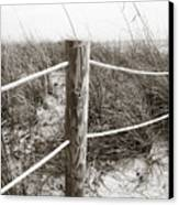 Sand And Grass Canvas Print by Julie Palencia