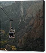 Sandia Peak Cable Car Canvas Print by Joe Kozlowski