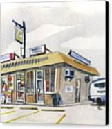 Sandwich Shop Canvas Print by Ashley Lathe