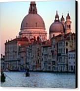 Santa Maria Della Salute On Grand Canal In Venice In Evening Light Canvas Print by Michael Henderson