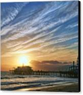 Santa Monica Pier Canvas Print by Eddie Yerkish
