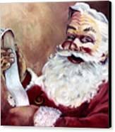 Santa With A List Canvas Print by Sheila Kinsey