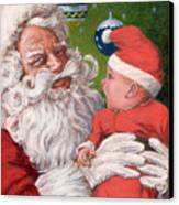 Santas Little Helper Canvas Print by Richard De Wolfe