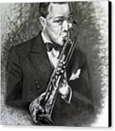 Satchmo Canvas Print by Toni  Thorne