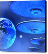 Saucers Canvas Print by Corey Ford