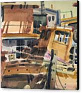 Sausalito House Boats Canvas Print by Donald Maier