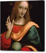 Saviour Of The World Canvas Print by Giovanni Pedrini Giampietrino