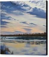 Scenic Overlook - Delaware River Canvas Print by Lea Novak