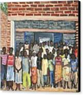 School Class Burkina Faso Series Canvas Print by Reb Frost