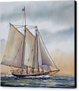 Schooner Stephen Taber Canvas Print by James Williamson