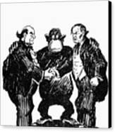 Scopes Trial Cartoon 1925 Canvas Print by Granger