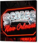 Scores Neon  Canvas Print by Armand Hebert