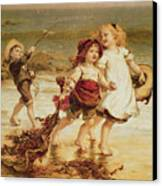 Sea Horses Canvas Print by Frederick Morgan