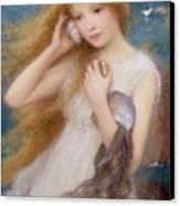 Sea Nymph Canvas Print by William Robert Symonds