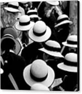 Sea Of Hats Canvas Print by Avalon Fine Art Photography