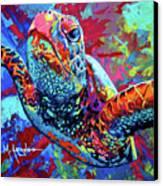 Sea Turtle Canvas Print by Maria Arango