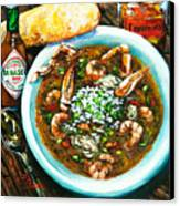 Seafood Gumbo Canvas Print by Dianne Parks