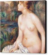Seated Female Nude Canvas Print by Renoir