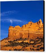 Sedona Smoke Signals Canvas Print by Mike  Dawson