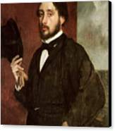 Self Portrait Canvas Print by Edgar Degas
