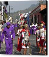 Semana Santa Procession I Canvas Print by Kurt Van Wagner