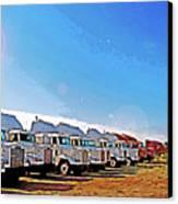 Semi Truckscape 2 Canvas Print by Steve Ohlsen