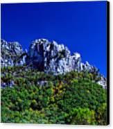 Seneca Rocks National Recreational Area Canvas Print by Thomas R Fletcher