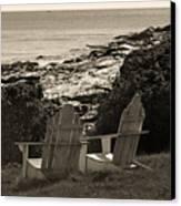 Sepia Seaside Retreat Canvas Print by Lone  Dakota Photography