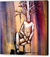Series Trees Drought 2 Canvas Print by Paulo Zerbato
