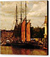 Setting Sail From Bristol Canvas Print by Brian Roscorla