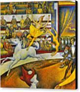 Seurat: Circus, 1891 Canvas Print by Granger