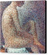 Seurat: Model, 1887 Canvas Print by Granger