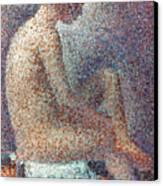 Seurat: Model, 1887 Canvas Print by Granger