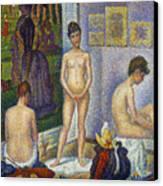 Seurat: Models, C1866 Canvas Print by Granger