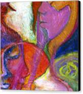 Seven Faces Canvas Print by Claudia Fuenzalida Johns