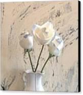 Shabbi Chic Roses Canvas Print by Marsha Heiken