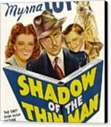 Shadow Of The Thin Man, Myrna Loy Canvas Print by Everett