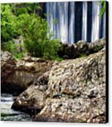 Shady Lake Falls Canvas Print by Lana Trussell