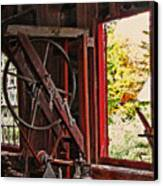 Shakers Woodshop Canvas Print by Steve Ohlsen