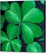 Shamrocks Canvas Print by Nancy Mueller