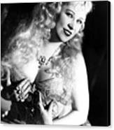 She Done Him Wrong, Mae West, 1933 Canvas Print by Everett
