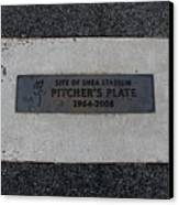 Shea Stadium Pitchers Mound Canvas Print by Rob Hans