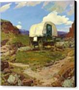 Sheep Wagon Canvas Print by Pg Reproductions