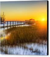 Shem Creek Sunset - Charleston Sc  Canvas Print by Drew Castelhano