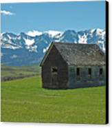 Shields Valley Abandoned Farm Ranch House Canvas Print by Bruce Gourley