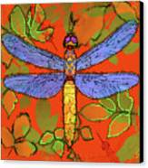Shining Dragonfly Canvas Print by Mary Ogle