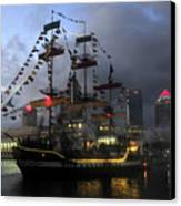 Ship In The Bay Canvas Print by David Lee Thompson