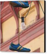 Shoes Hanging Canvas Print by Jeff White