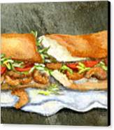 Shrimp Po Boy Canvas Print by Elaine Hodges