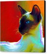 Siamese Cat 10 Painting Canvas Print by Svetlana Novikova